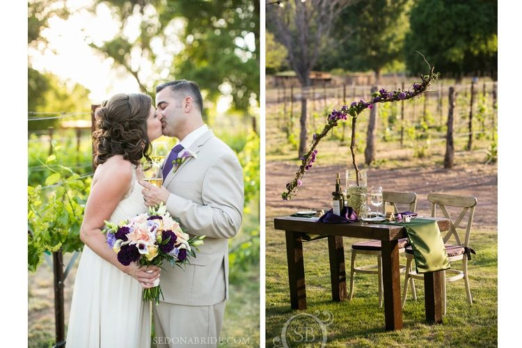 Vineyard wedding at dancing apache