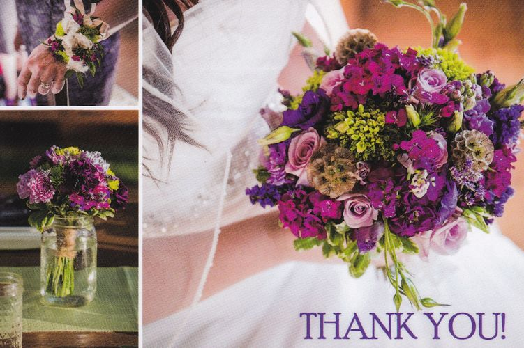 Purple and green bouquet at Dancing Apache in Sedona